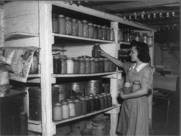 4-H_Club_Member_Storing_Food_Grown_in_Her_Garden_Rockbridge_County_Virginia